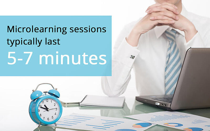 Microlearning sessions last no more than 5-7 minutes